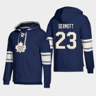 Cheap Toronto Maple Leafs #23 Travis Dermott Blue adidas Lace-Up Pullover Hoodie