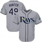 Cheap Rays #49 Tommy Hunter Grey Cool Base Stitched Youth MLB Jersey