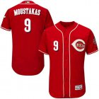 Cheap Reds #9 Mike Moustakas Red Flexbase Authentic Collection Stitched MLB Jersey