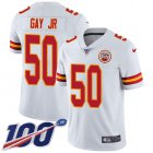 Cheap Nike Chiefs #50 Willie Gay Jr. White Youth Stitched NFL 100th Season Vapor Untouchable Limited Jersey