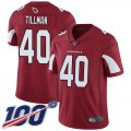 Cheap Nike Cardinals #40 Pat Tillman Red Team Color Men's Stitched NFL 100th Season Vapor Limited Jersey