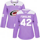 Cheap Adidas Hurricanes #33 Scott Darling White Road Authentic Women's Stitched NHL Jersey