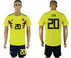 Cheap Colombia #20 G.Moreno Home Soccer Country Jersey