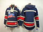 Cheap Olympic Team USA Blank Navy Blue Throwback Sawyer Hooded Sweatshirt Stitched NHL Jersey