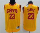 Cheap Youth Cleveland Cavaliers #23 LeBron James Yellow Jersey