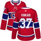 Cheap Adidas Canadiens #37 Keith Kinkaid Red Home Authentic Women's Stitched NHL Jersey