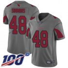 Cheap Nike Cardinals #48 Isaiah Simmons Silver Youth Stitched NFL Limited Inverted Legend 100th Season Jersey