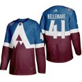 Cheap Adidas Colorado Avalanche #41 Pierre-Edouard Bellemare Men's 2020 Stadium Series Burgundy Stitched NHL Jersey