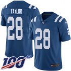 Cheap Nike Colts #28 Jonathan Taylor Royal Blue Team Color Men's Stitched NFL 100th Season Vapor Untouchable Limited Jersey