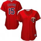 Cheap Twins #15 Jason Castro Red Alternate Women's Stitched MLB Jersey