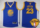 Cheap Youth Golden State Warriors #23 Draymond Green Blue 2016 The NBA Finals Patch Jersey