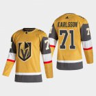 Cheap Vegas Golden Knights #71 William Karlsson Men's Adidas 2020-21 Authentic Player Alternate Stitched NHL Jersey Gold