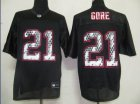 Cheap Sideline Black United 49ers #21 Frank Gore Black Stitched NFL Jersey