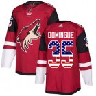 Cheap Adidas Coyotes #35 Louis Domingue Maroon Home Authentic USA Flag Stitched Youth NHL Jersey