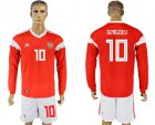 Cheap Russia #10 Dzagoev Red Home Long Sleeves Soccer Country Jersey