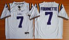 Cheap LSU Tigers #7 Fournette White 2015 College Football Nike Limited Jersey
