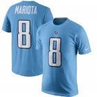 Cheap Tennessee Titans #8 Marcus Mariota Nike Color Rush Player Pride Name & Number T-Shirt Blue