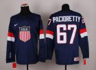 Cheap 2014 Olympic Team USA #67 Max Pacioretty Navy Blue Stitched NHL Jersey