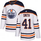 Cheap Adidas Oilers #41 Mike Smith White Road Authentic Stitched Youth NHL Jersey