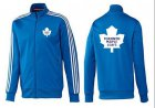 Cheap NHL Toronto Maple Leafs Zip Jackets Blue-3