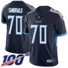 Cheap Nike Titans #70 Ty Sambrailo Navy Blue Team Color Youth Stitched NFL 100th Season Vapor Untouchable Limited Jersey