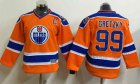 Cheap Oilers #99 Wayne Gretzky Orange CCM Throwback Stitched Youth NHL Jersey