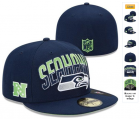 Cheap Seattle Seahawks fitted hats 18