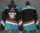 Cheap Adidas Ducks Blank Black/Teal Alternate Authentic Women's Stitched NHL Jersey