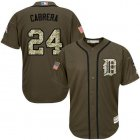 Cheap Tigers #24 Miguel Cabrera Green Salute to Service Stitched Youth MLB Jersey