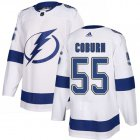 Cheap Adidas Lightning #55 Braydon Coburn White Road Authentic Stitched NHL Jersey