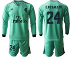 Cheap Real Madrid #24 D.Ceballos Third Long Sleeves Soccer Club Jersey