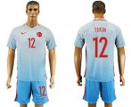 Cheap Turkey #12 Tekin Away Soccer Country Jersey