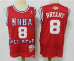 Cheap Men's Los Angeles Lakers #8 Kobe Bryant Red 2003 All Star Swingman Throwback Jersey