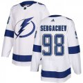 Cheap Adidas Lightning #98 Mikhail Sergachev White Road Authentic Stitched Youth NHL Jersey