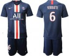 Cheap Paris Saint-Germain #6 Verratti Home Soccer Club Jersey