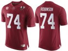 Cheap Men's Alabama Crimson Tide #74 Cam Robinson Red 2017 Championship Game Patch Stitched CFP Nike Limited Jersey
