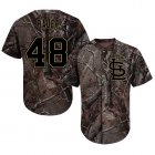 Cheap Cardinals #48 Harrison Bader Camo Realtree Collection Cool Base Stitched Youth MLB Jersey