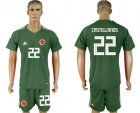 Cheap Colombia #22 Castellanos Green Goalkeeper Soccer Country Jersey