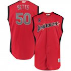 Cheap American League # 50 Mookie Betts Majestic 2019 MLB All-Star Game Workout Player Jersey Red