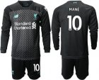 Cheap Liverpool #10 Mane Third Long Sleeves Soccer Club Jersey