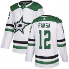 Cheap Adidas Stars #12 Radek Faksa White Road Authentic Youth Stitched NHL Jersey