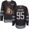 Cheap Adidas Senators #95 Matt Duchene Black 1917-2017 100th Anniversary Stitched NHL Jersey