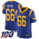 Cheap Nike Rams #66 Austin Blythe Royal Blue Alternate Youth Stitched NFL 100th Season Vapor Untouchable Limited Jersey