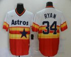 Cheap Men's Houston Astros #34 Nolan Ryan Orange Rainbow Cooperstown Stitched MLB Cool Base Nike Jersey