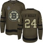 Cheap Adidas Bruins #24 Terry O'Reilly Green Salute to Service Stanley Cup Final Bound Youth Stitched NHL Jersey