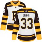Cheap Adidas Bruins #33 Zdeno Chara White Authentic 2019 Winter Classic Women's Stitched NHL Jersey