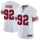 Cheap Nike 49ers #92 Kerry Hyder White Youth Stitched NFL Limited Rush Jersey