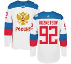 Cheap Team Russia #92 Evgeny Kuznetsov White 2016 World Cup Stitched NHL Jersey