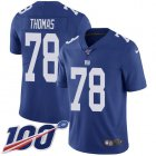 Cheap Nike Giants #78 Andrew Thomas Royal Blue Team Color Youth Stitched NFL 100th Season Vapor Untouchable Limited Jersey