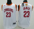 Cheap Youth Cleveland Cavaliers #23 LeBron James White 2016 The NBA Finals Patch Jersey